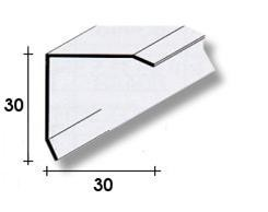 PARASPIGOLO ACCIAIO INOX 3 x 3 x 270 cm.