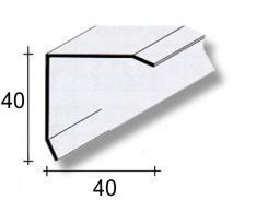 PARASPIGOLO ACCIAIO INOX 4 x 4 x 250 cm.