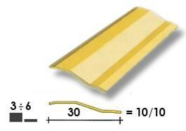 Coprisoglia ottone adesivo Z Gradino  3/6 mm.