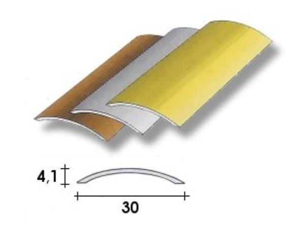 Coprisoglia alluminio adesivo da  3 cm.