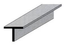 """Profilo alluminio """"T"""" 15 x 15"""