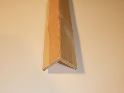 Paraspigolo Pino grezzo 35 x 35 x 2700 mm.