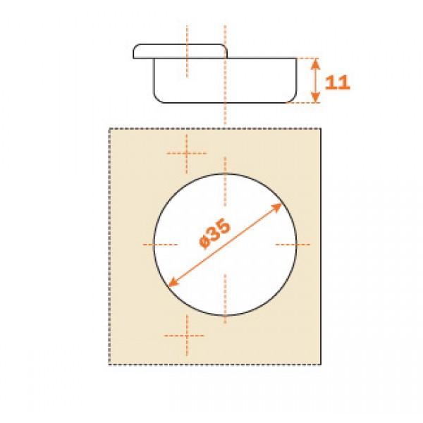 cerniera cucina 70° per mobili angolari
